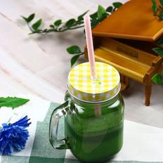 菠菜蛋白绿奶昔的做法