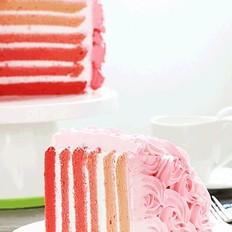 渐变彩虹蛋糕