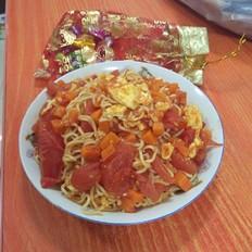 红红火火炒面#午餐