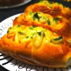 香葱芝士香肠面包