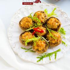 口蘑酿虾仁