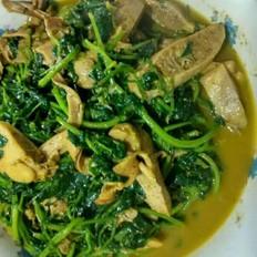 山芽菜炒河蚌