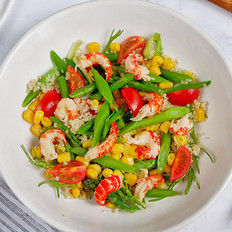 龙虾球杂蔬藜麦沙拉