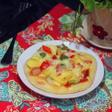 解放双手的快手早餐之菠萝批萨
