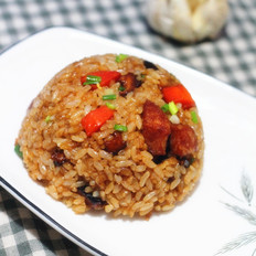 台式胡萝卜香肠焖饭