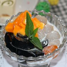 芒果凉粉冰品
