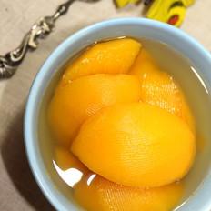 黄桃糖水罐头