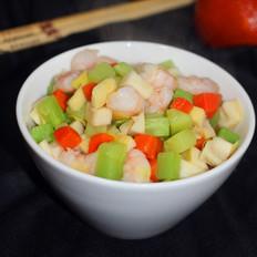 鲜虾炒时蔬