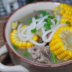 笋尖玉米排骨汤