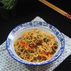 牛肉蔬菜炒米粉