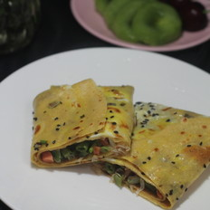 绿豆面蛋饼