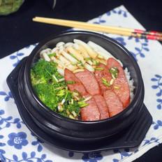 科尔沁德式黑椒牛肉肠之香肠煲仔饭