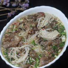 金针菇肥牛锅