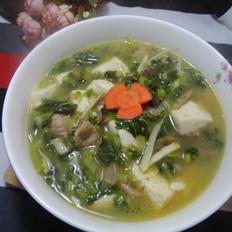 咸菜冬笋豆腐汤