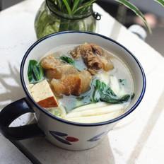 牛筋鱼面汤