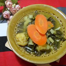 菌菇咸菜汤