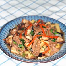 香菇炒牛柳