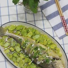 豆瓣蒸抱腌黄鱼