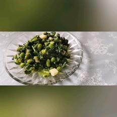 萝卜菜炒毛豆