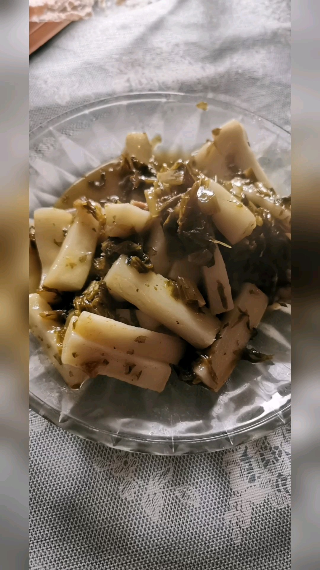 雪菜肉丝炒年糕