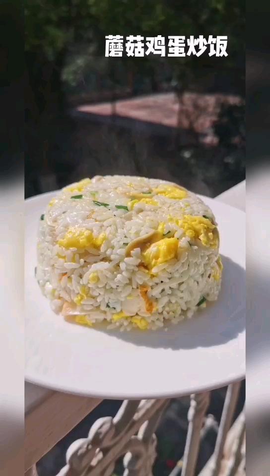 蘑菇鸡蛋炒饭