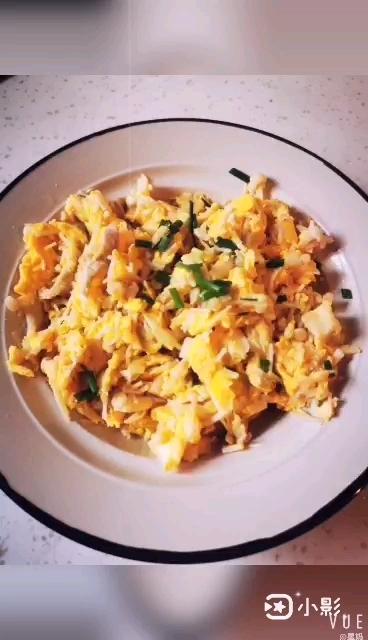 肉丝金针菇炒蛋