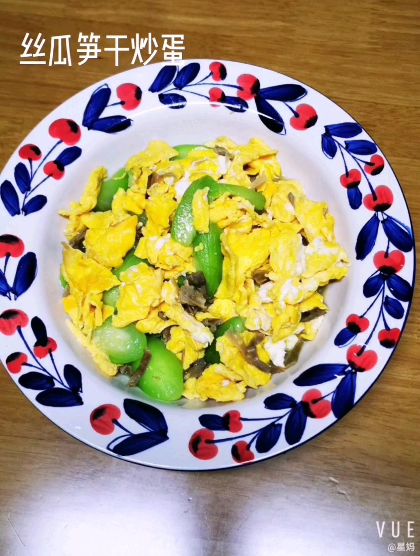 絲瓜筍干炒蛋