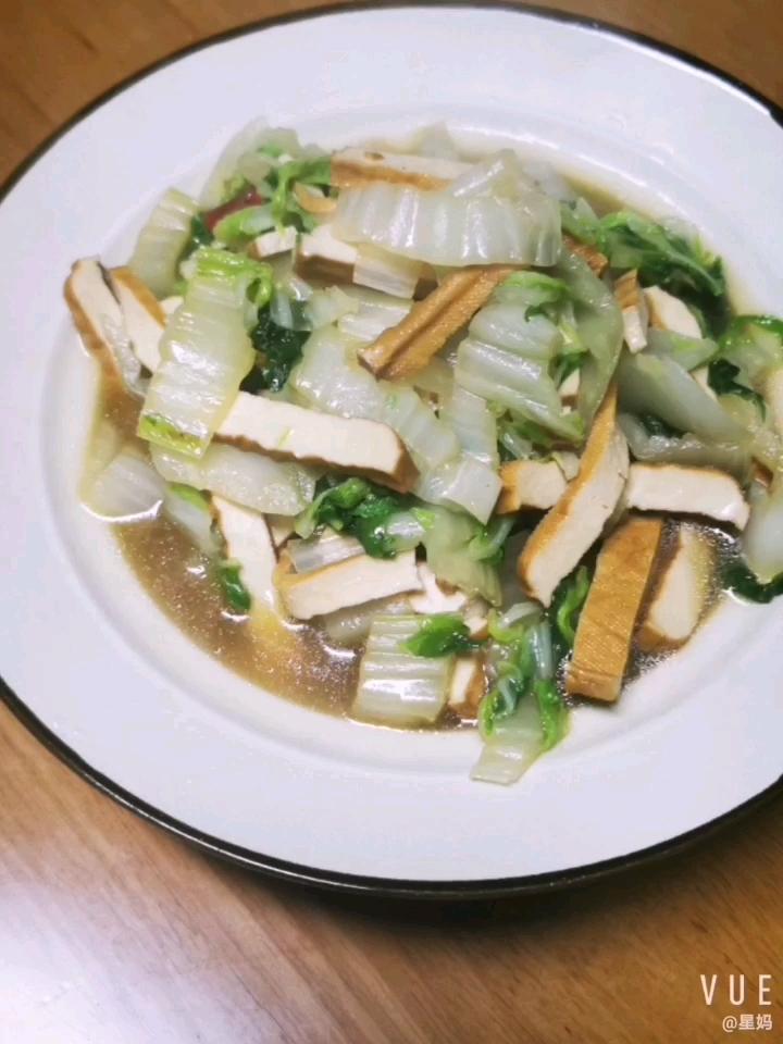 茭菜炒豆腐