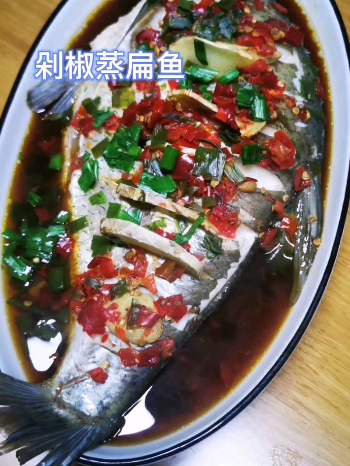 剁椒蒸扁鱼的做法