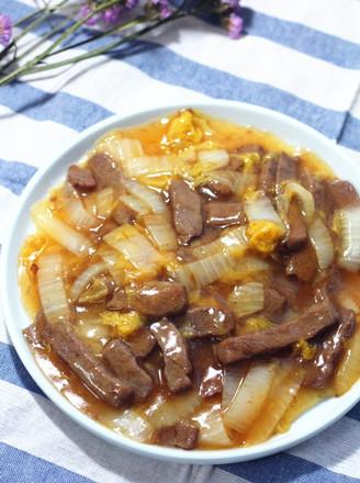白菜炒牛肉的做法