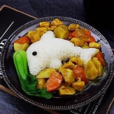 咖喱芋头鸡肉饭