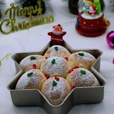 圣诞雪花豆沙包