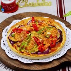 海虾杂蔬披萨