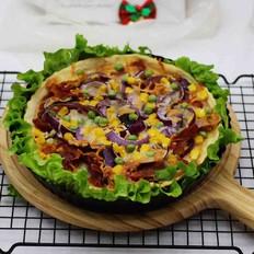 培根青豆披萨