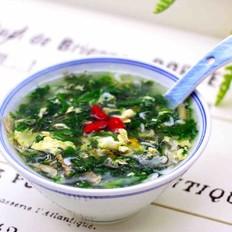 【吉祥如意】的荠菜虾皮鸡蛋汤