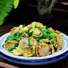 扇贝肉鸡蛋韭菜小炒