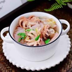 水萝卜粉丝炖桃花蛸