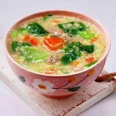 生滚猪肝时蔬小米粥