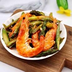 蒜香海虾炒芦笋