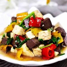 双椒烩双色豆腐