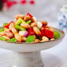 双椒拌花生米