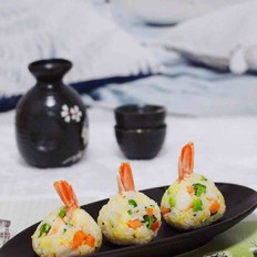 阿根廷红虾时蔬二米饭团