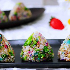 藜麦海苔五彩米饭团