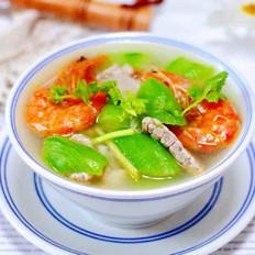 丝瓜海虾肉片汤