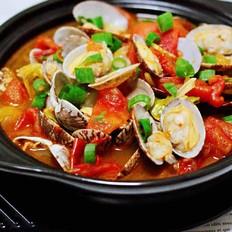 包菜番茄花蛤汤