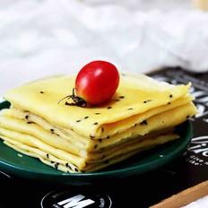 鹌鹑蛋全麦玉米面薄饼