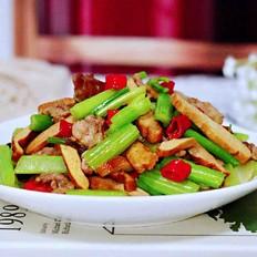 豆干肉片芹菜小炒