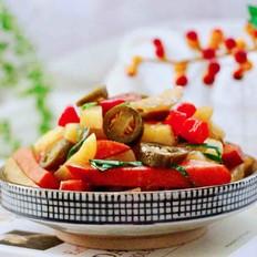 辣炒火腿肠土豆条
