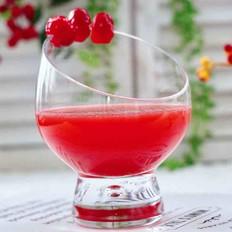 鲜榨蔓越莓胡萝卜汁