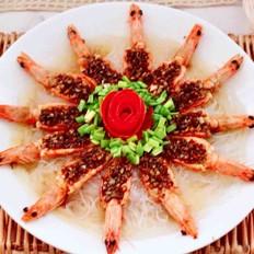 蒜末粉丝蒸海虾